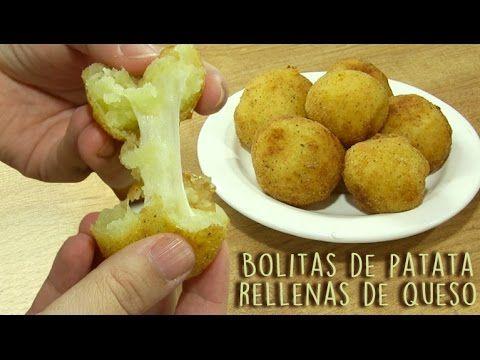 Bolitas de patata rellenas de queso | Cocina