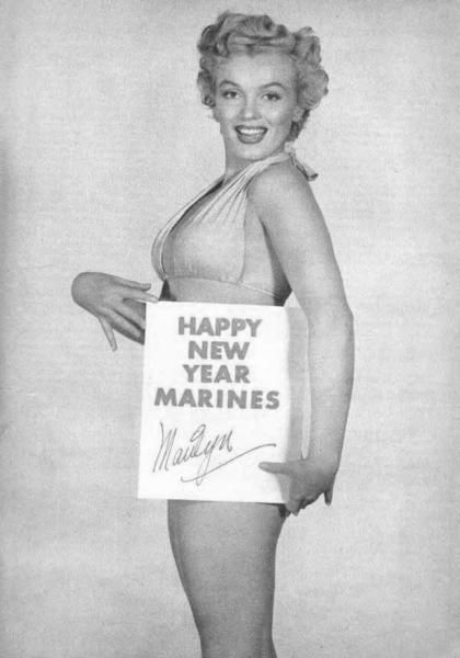 A SPECIAL NEW YEAR'S PIN-UP FOR MARINES - Marilyn Monroe - early 1950s