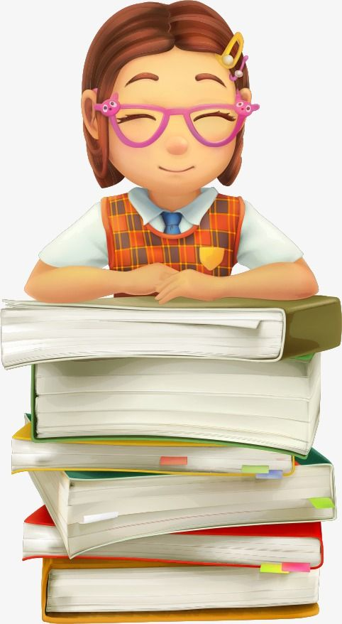 Vector Books And Female Students Book Schoolgirl Cartoon Female