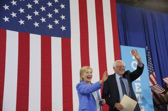 Jetzt also doch: Nach einem harten Vorwahlkampf hat sich Bernie Sanders in New...