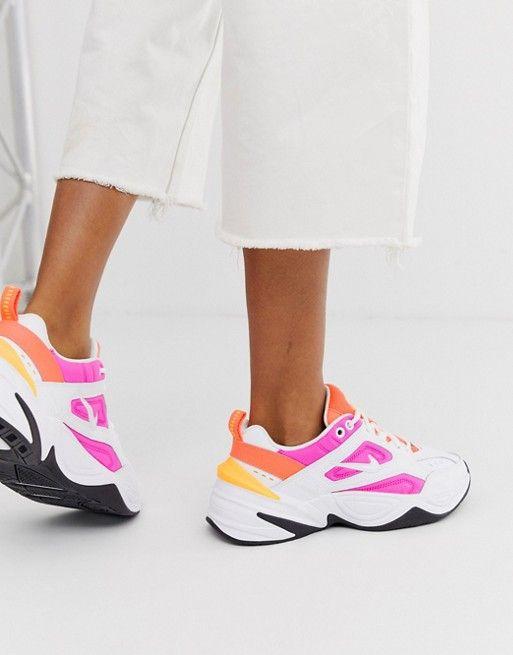 Nike white and pink m2k tekno sneakers | ASOS | Sneakers ...