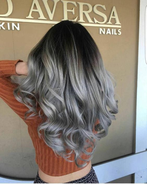 In This Article I Ll Present 34 Amazing And Trendy Silver Gray Hair Colors To Inspire You Hairstyle Silverha Grey Ombre Hair Hair Styles Silver Hair Color