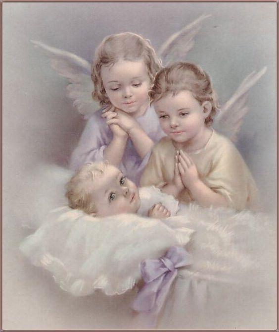 desde mi niñez, esta es la imagen que guarda mi mente de nuestros angelitos de la guarda:
