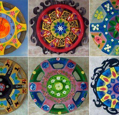 rodas de pneu de carro+criatividade