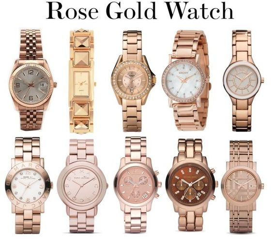 Fossil watches in Rose Gold. How can a girl choose!