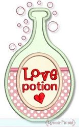 Love Potion Applique - 4 Sizes!   Valentine's Day   Machine Embroidery Designs   SWAKembroidery.com Lynnie Pinnie
