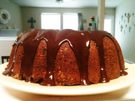 ... Box: Recipe: Banana Chocolate Chip Bundt Cake With Chocolate Ganache