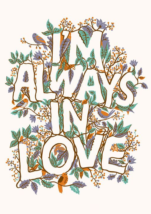 Adam Hayes: This is so true. I'm always in love with something: a song, a piece of art, a movie, a special someone, my kids...