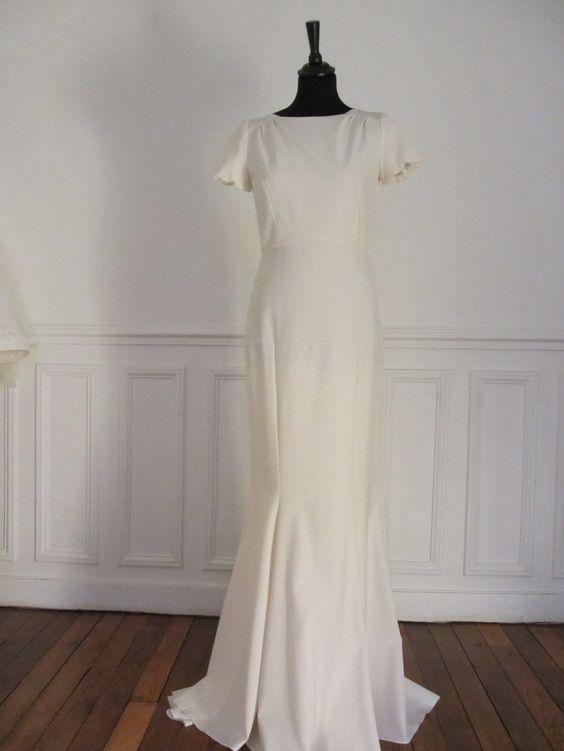 Robe de mariée d'occasion - Delphine Manivet - Adhermar dos nu