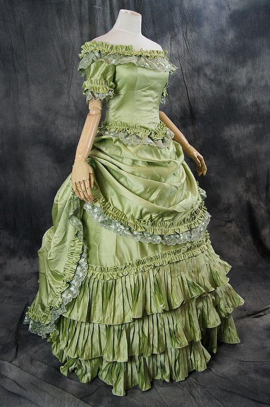Gothic Victorian Rococo dress costume ball evening dress