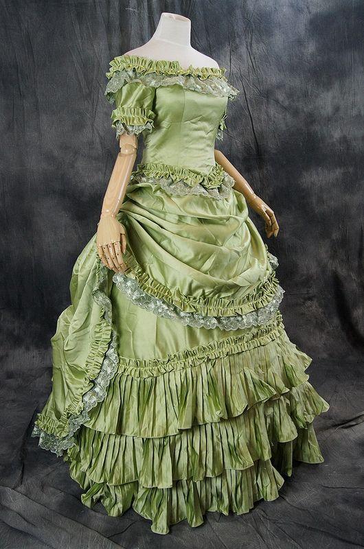 Gothic Victorian Rococo dress costume ball evening dress