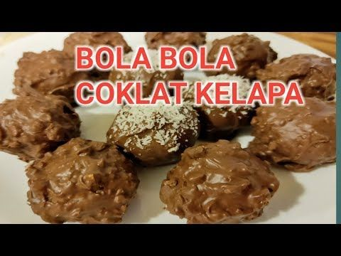 Resep Bola Bola Kelapa Coklat No Bake Coconut Balls Recipe Youtube Resep Makanan Memanggang Kue Kelapa