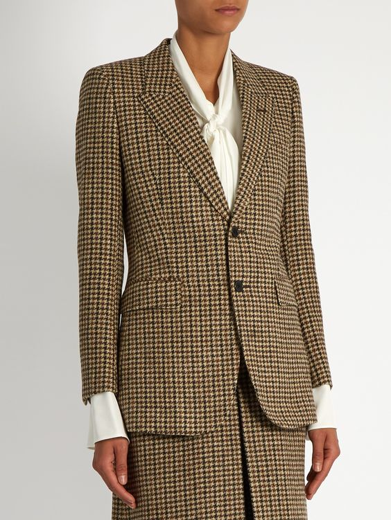 Single-breasted wool-tweed jacket  | Saint Laurent | MATCHESFASHION.COM US