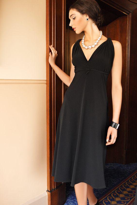 SACHA DRAKE Ultimate Black Dress - Twisted Sleeve