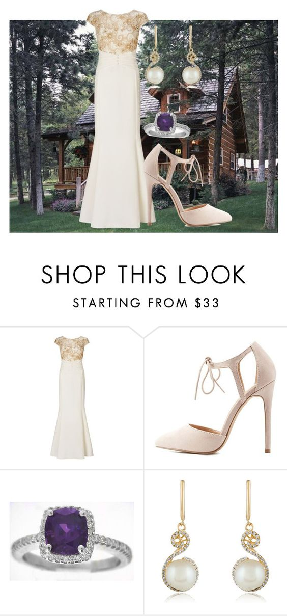 """""""Cabin bride"""" by mollylsanders on Polyvore featuring Ariella, Charlotte Russe and Effy Jewelry"""