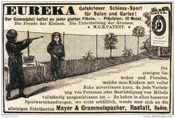 Original-Werbung/ Anzeige 1898 - EUREKA KINDER - GEWEHRE / MAYER &…