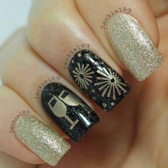 30+ New Year\u0027s Eve Nail Designs