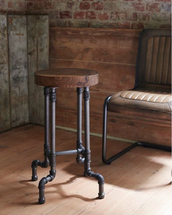 Best Industrial Pipe Furniture Designs for A Cool and Chic Home Decor (60)