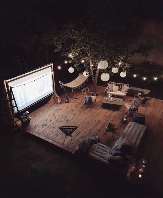 Movie night at home  #backyard #homedecor #home
