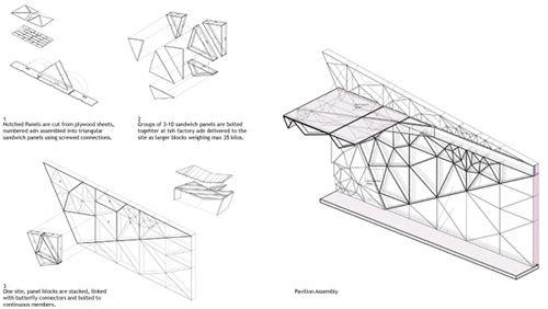 freelandbuck, stack, pavillon