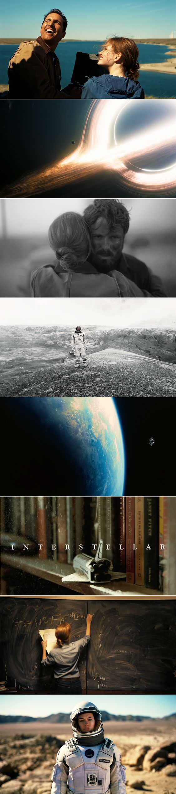 Interstellar Direct. by Christopher Nolan; Cinematography by Hoyte Van Hoytema. One of Nolan's best