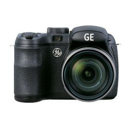 GE X550 Power Pro Series Bridge Digital Camera with an Electronic View Finder, Optical Image Stabilization, 16MP, 15X Optical Zoom, 2.7-Inch Auto Brightness LCD, 27mm Wide Angle Lens and advanced features including Object Tracking, HDR+, Shutter & Aperture Priority modes, Program mode, Auto Scene, Panorama, Smile & Blink Detection, Face Detection & AE, Red-Eye Removal, High Dynamic Range. Power by