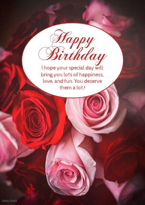 Pin On Birthday Wish Templates