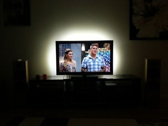ikea led lights behind the tv for the home pinterest tvs led and the o 39 jays. Black Bedroom Furniture Sets. Home Design Ideas