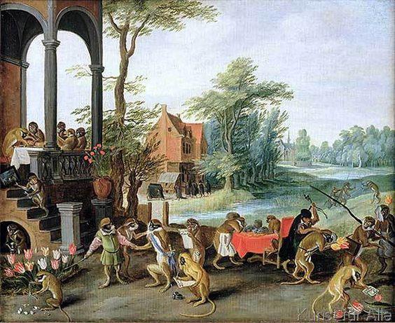 Jan Brueghel der Jüngere - A Satire of the Folly of Tulip Mania