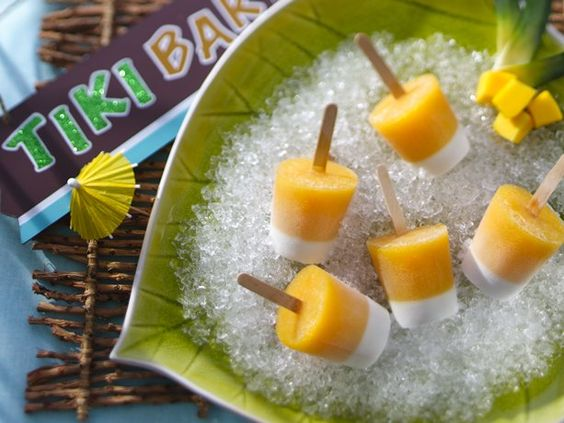 Mai Tai Tiki Pops: These rum-spiked frozen treats take the flavors of a well-known Tiki cocktail – the Mai Tai – and turn it into a fruity (and boozy) ice pop.