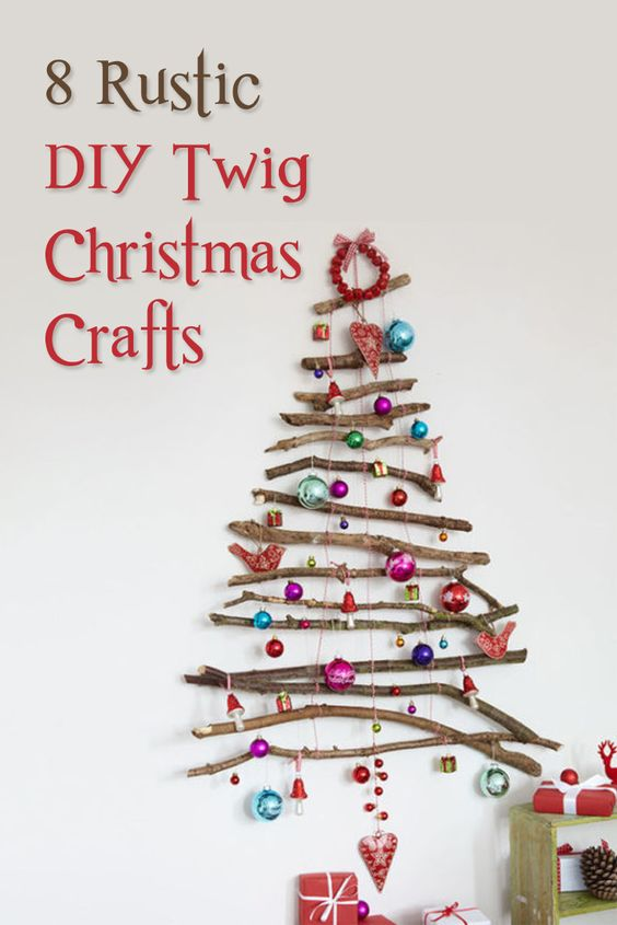 Add a touch of rustic chic to your home this Christmas by making one of these twig crafts!