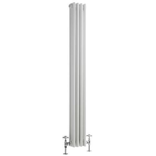 Gliederheizkörper 3-Säuler Vertikal Weiß 917 Watt 1500mm x 203mm Regent - Image 2