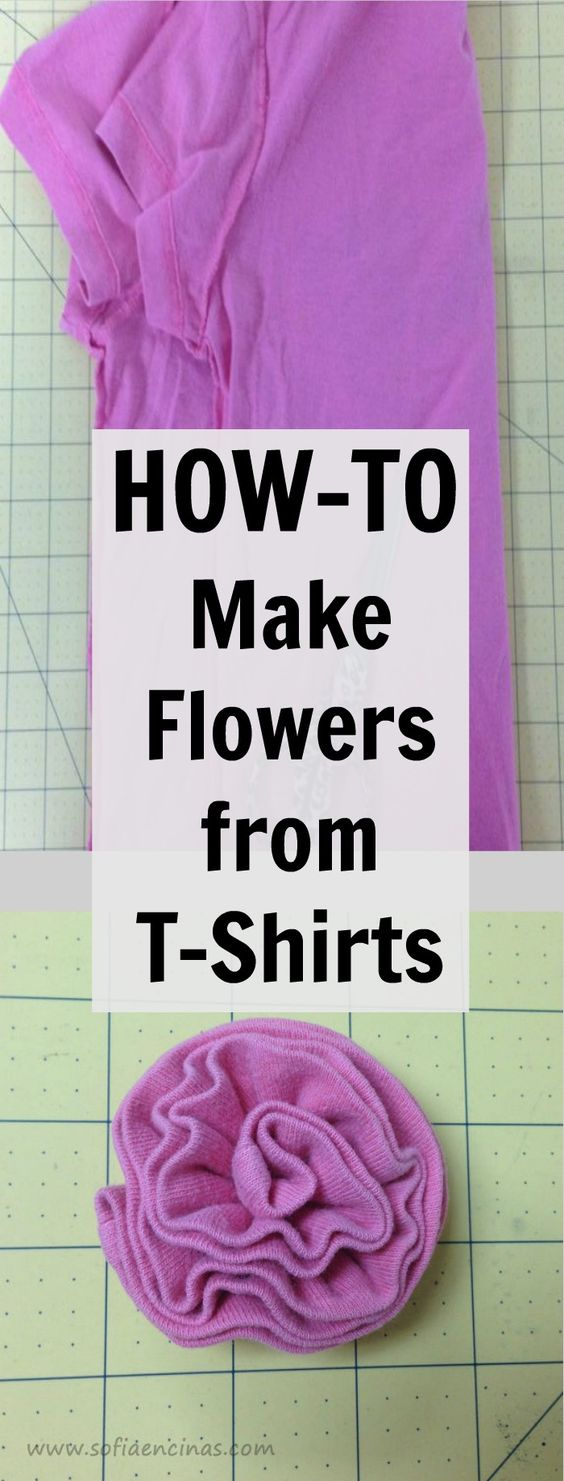 This is a fun craft to make from old t-shirts ~ it would be fun to make in a rainbow of colors.: