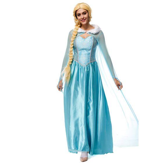 コスプレ アナと雪の女王 ドレス ELSA ディズニープリンセス Disney Princess Cinderella 女性 ガウン 大人用 プリンセス お姫様
