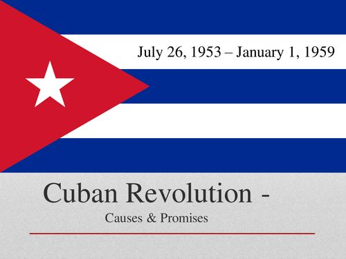 I'm writing an essay on the Cuban revolution... help?