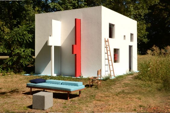 a cube, a daybed, a chair, a ladder, a house... Breathing house.  Jean Pascal Flavien