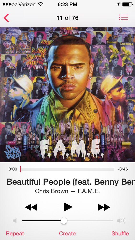 """""""Beautiful People""""- Chris Brown"""