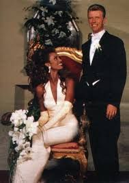 david bowie & Iman on their Wedding day