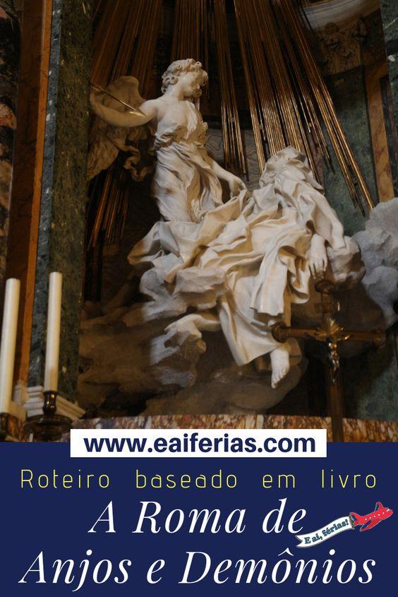 Pinterest - Anjos e Demônios de Dan Brown - roteiro para visitar Roma