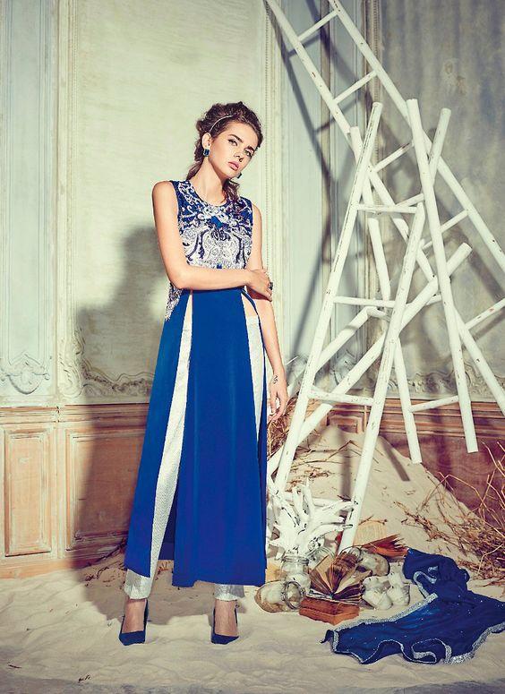 Crepe Silk Achkan Style Incredible Unstitched Salwar Kameez
