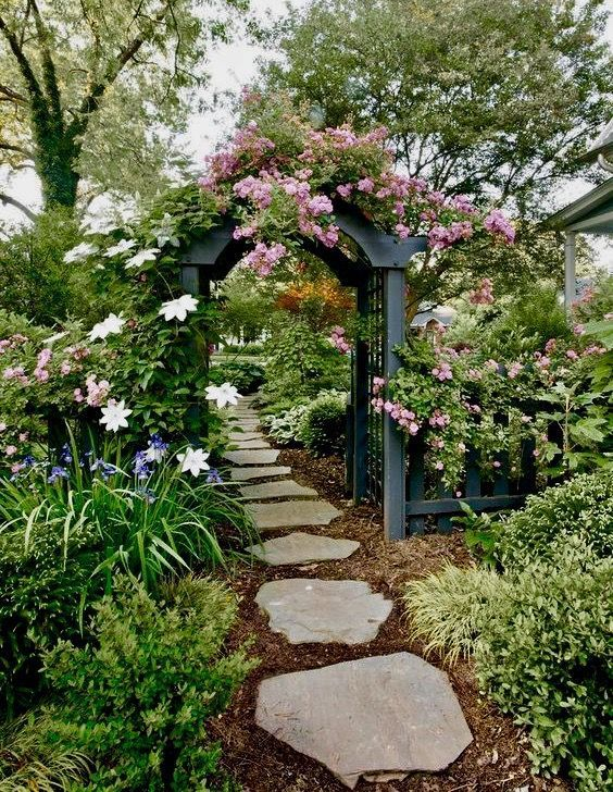The Garden Can Be Divided Into Two Equal Areas By The Garden Path Some Find This Design Ra In 2020 Beautiful Gardens Cottage Garden Design Most Beautiful Gardens