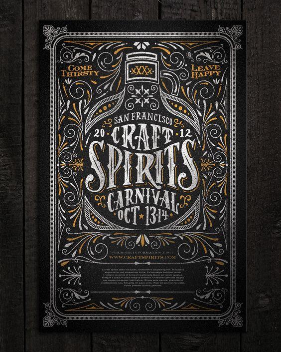 Craft Spirits Carnival poster by Joel Felix