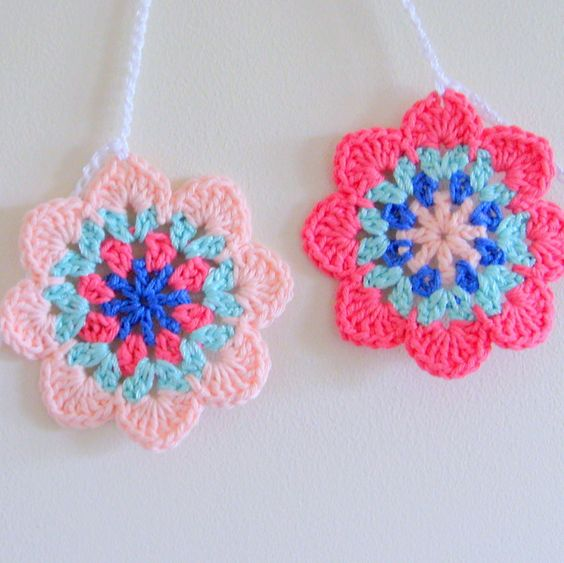 Crochet bunting from Polly Krafts on folksy