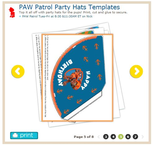 HttpWwwNickjrComPrintablesPawPatrolPartyHatsTemplates