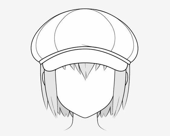 Vẽ nón Newsboy anime