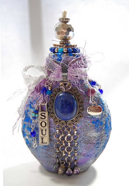 Bottle of soul by zinnia treasures crafts pinterest for Glass bottle art and craft