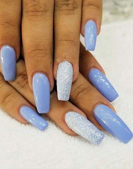 24 Stunning Glitter Nail Art Designs That You Will Love To Try Glitter Coffin Nails Glitter Acrylic Blue Glitter Nails Glitter Nail Art Nail Designs Glitter