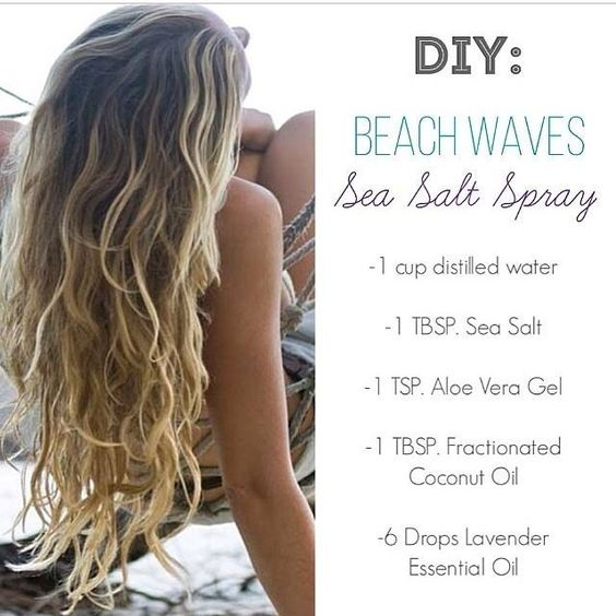 Sea Salt Spray for Beach Waves and a nice Lavender scent
