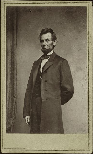Abraham Lincoln, January 8, 1864. Albumen print. Photographed by Mathew B. Brady (1823 -1896). George Eastman Collection.