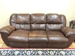 Ebay Brown Leather Sofa Used En 2020 Living